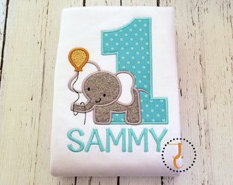 Elephant Birthday Shirt - Boys Birthday Shirt, 1st Birthday, Jungle Birthday, Safari Birthday, Twin Birthday, Boy Birthday Outfit, Zoo Party