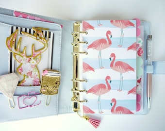 Flamingo Print Personal, A5, A6, B6 & Pocket Size Planner Dashboards