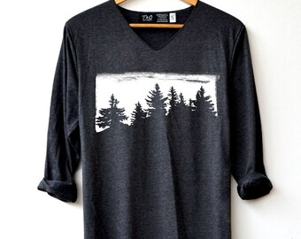 Forest Shirt - Camping Shirt Adventure T-Shirt Long Sleeve High Quality Graphic T-Shirts Unisex