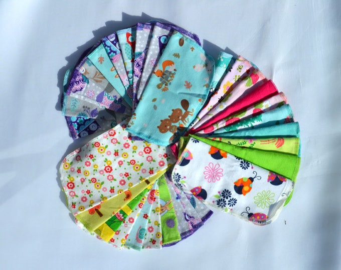 Seconds Printed GIRLS Sets Flannel 1 Ply... 8x8 10 Pack