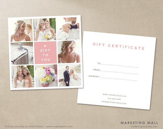 photography gift certificate template gift card template a gift for you photography template gift certificate gift card photoshop file