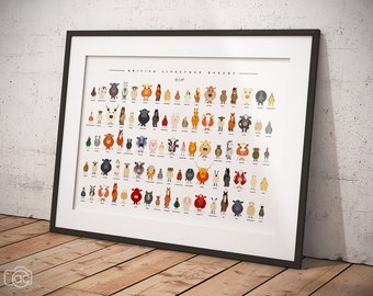 British Livestock Breeds, Farm Animals, Cows, Sheep, Pigs, Horse, Chickens ***LIMITED EDITION PRINT***