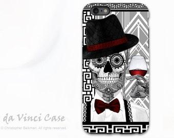 1920's Sugar Skull  iPhone 6 Plus / 6s Plus TOUGH Case - Mr JD Vanderbone - Art Deco Black & White Skull Day of the Dead iPhone 6 Plus case