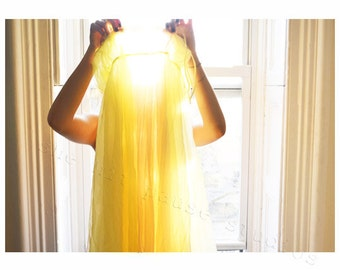 Yellow Dress Photograph drenched in Sunlight -11x14 Fine Art Print