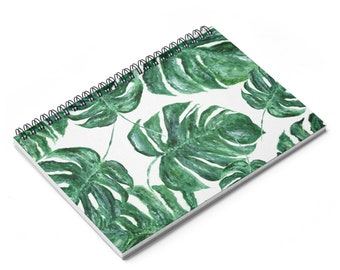 Palmier carnet de feuille, feuille de monstera, ordinateur portable palm, carnet de feuille, journal de feuille de palmier