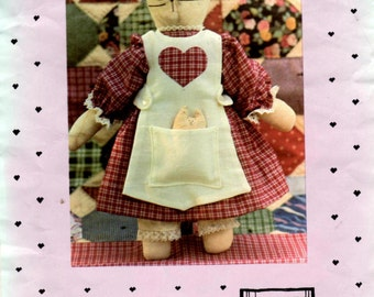 """Sewing Pattern - Stuffed Cat Doll - 12"""" Allie Cat Doll by Country Threads"""
