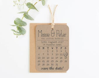 Save the date calendar - Kraft save the date