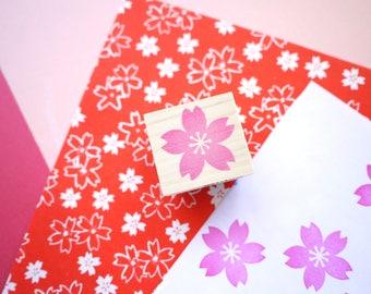 Cherry blossom stamp, Wedding tree, Japanese stationery, Sakura stamp, Hobonichi stamp, Japanese stamp, Kawaii flower, Custom stamp