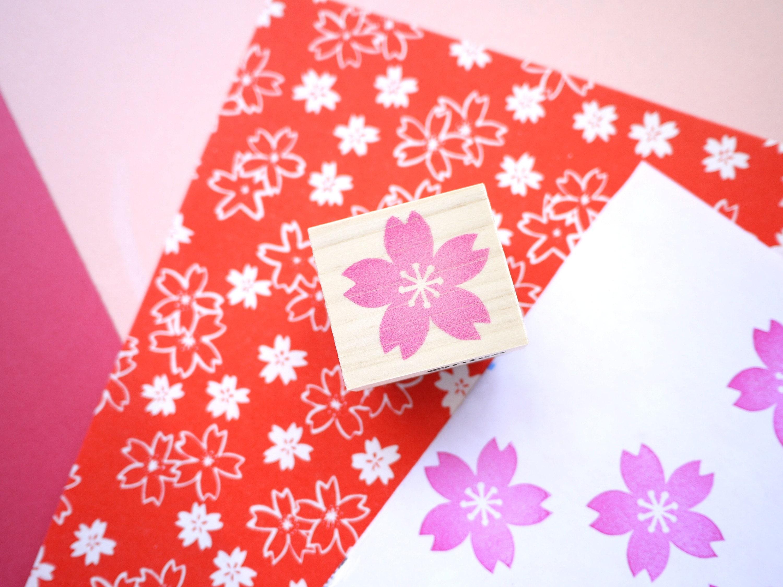 Cherry blossom stamp, Wedding tree, Japanese stationery, Sakura ...
