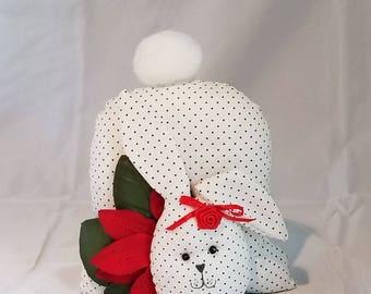 Tail on Top Bunny - Christmas