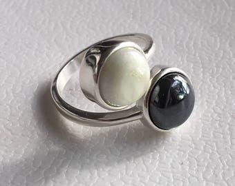 Urim & Thummim Sterling Silver Bypass Ring