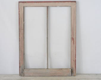 Antique/Vintage Wood Architectural Salvage Wood Barn Window Chippy Paint Window #4