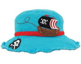 TODDLER Stephen Joseph Pirate Bucket Hat, Children's Bucket Hat, Kids Hat.