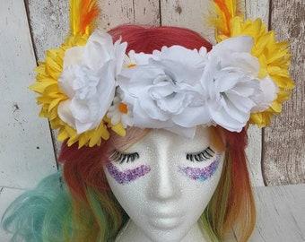 Festival headdress costume headdress floral headpiece