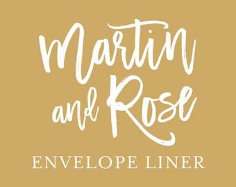 Envelope Liners - Wedding Invitation - Glitter Envelope Liner - Floral Envelope Liner - DIY Wedding Invitation