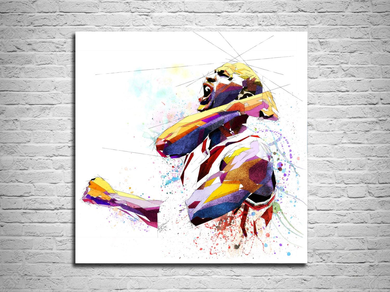 Michael Jordan-Leinwand Kunstdruck Basketball