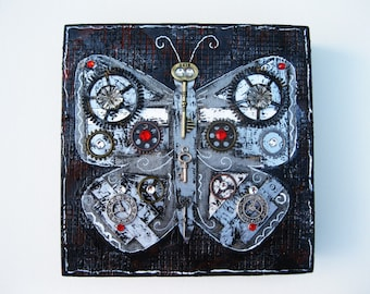 Mixed Media Steampunk Butterfly
