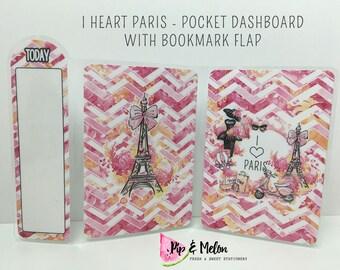 I HEART PARIS (TN) Dashboard with Bookmark Flap | .3 Mil | DB032