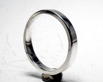 2mm Flat Sterling Silver Wedding Band stacker RF416