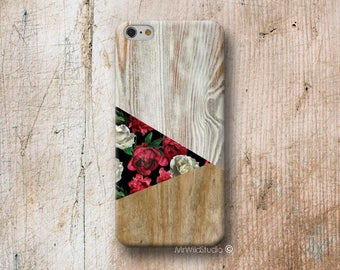 roses triangle Wood print Phone Case for iPhone 4 4s 5 5s SE 5C 6 6S 7 8 PLUS X iPod Touch 5 6 Oneplus 2 3 5 1+2 1+3 1+5