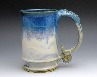 Stoneware Mug, Pottery Mug Coffee Cup Handmade Microwave and Dishwasher Safe