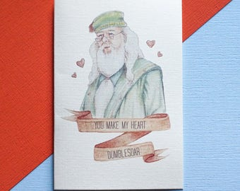 Harry Potter You Make My Heart Dumblesoar Card