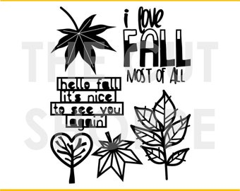 The Autumn Acres Cut File set includes 6 fall images, that can be used for your scrapbook and paper craft projects.