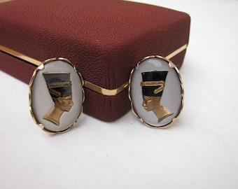1960s Egyptian Pharoah Cuff Links (No Box)