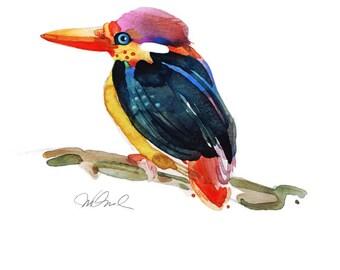 "Little fisher, Giclee Print  9x12"""