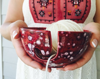 Pottery Knitting Bowl | Yarn Bowl | Knitting Bowl | Ceramic | handmade in my Charleston, SC studio