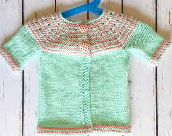 Green Pink Toddler Sweater, Gifts For Baby Girls, Girl Baby, Baby Sweater, Baby Clothes, Newborn Gifts, Gifts for Babies,