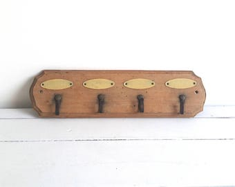 Old French rustic kitchen towel rack * french vintage rack * wood vintage rack