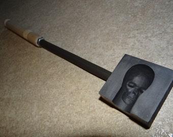 3-D Push In Glassblowing Skull Mold