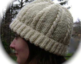 Pdf CABLED KNIT CAP Pattern