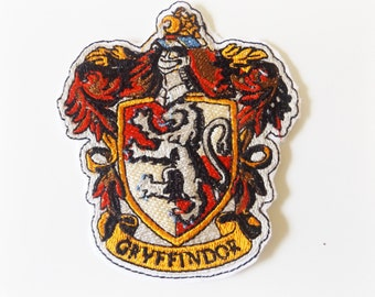 Gryffindor Harry Potter Embroidered Iron On Patch