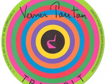 """Verner Panton Trapholt circular poster from 1997 - home decor - wall art - MCM """"midmod - interior decoration - home decoration - s-chair"""