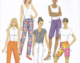 FREE US SHIP Sewing Pattern Butterick 6061 Jeans Fly front zipper Pockets shorts capris Size 6/14 14/22 Bust 30 31 32 34 36 38 40 42 44 new