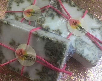 Handmade Lavender Soap! 100% pure lavender oil! Genuine lavender buds added! Lavender soap!