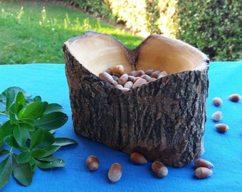 Ciotola d'acero con corteccia, Tornitura legno, Woodturning, Rustic Home Decor, Bowl, Homemade, Maple wood, Made in Italy, Turning, Bowls