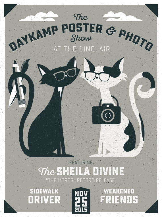 Daykamp Poster & Photo show 2 color screen print, 12x18