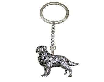 Golden Retriever Dog Pendant Keychain