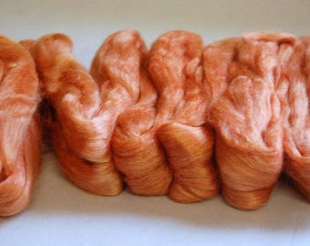 LIGHT ORANGE ~ Orange Merino Silk ~ Colour no. 711