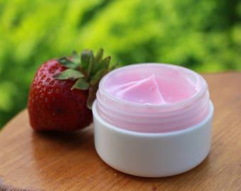 Organic face scrub Strawberry face scrub Creamy facial scrub with organic strawberry powder Strawberry face cream Organic facial mask Cream