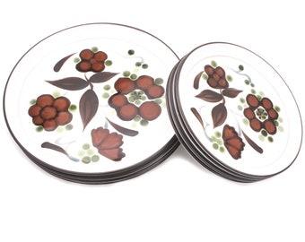 Vintage Stoneware Noritake Folkstone 8540 Salad/ Dinner plate set 4 each