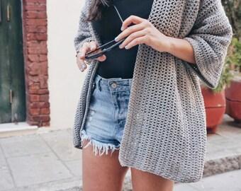 Crochet PATTERN-  The Roxy Cardigan Sweater Pattern- Summer Crochet Cardigan Pattern