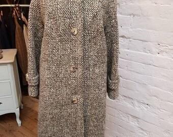 Vintage Rogant Irish tweed coat. UK size 14