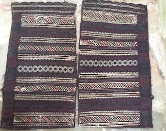 Antique Afghan Kuchi wool cushion covers