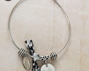 Bangle is personalized with star winter morning