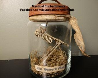 Halloween Skeleton Jar The Hanged Man