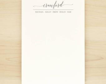 GUILD Family Personalized Notepad - Custom Letterhead Families Kids Children School